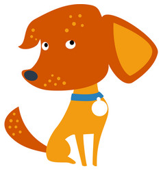 set funny mixed breed or mongrel dog vector image