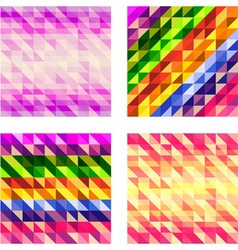 Set of Colorful Geometric textures vector image