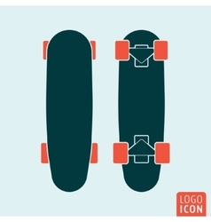 Skateboard icon isolated vector