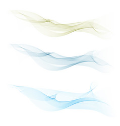 smoothclearbeautiful waves setwave abstract vector image