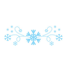 snowflakes abstract blue backdrop vector image