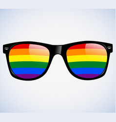 sunglasses abstract rainbow lenses vector image