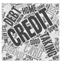 Taking on Credit Card Debt Word Cloud Concept vector image