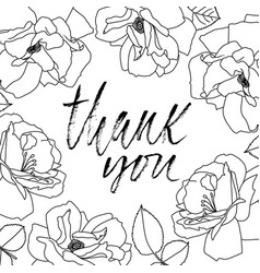 Thank you handwritten inscription hand drawn vector