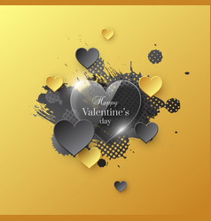 valentines day holiday card vector image