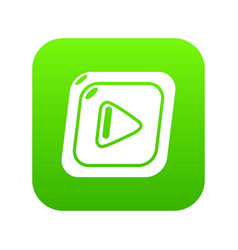 video icon green vector image