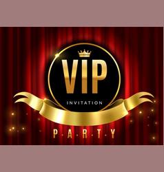 Vip theatre golden sign event premium vector