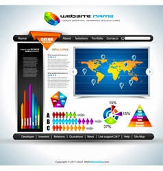website infographics vector image