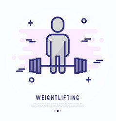 weightlifting thin line icon vector image