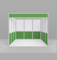 white green trade booth standard stand vector image