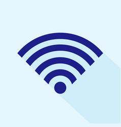 wifi signal icon isolated on white background vector image