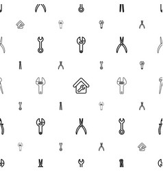 wrench icons pattern seamless white background vector image