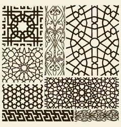arabesque design set vector image vector image