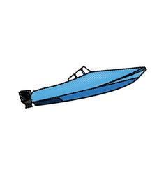 boat transport adventure expensive sport vector image