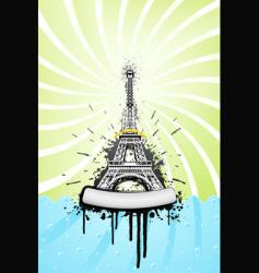 Eiffel tower grunge vector image vector image