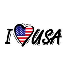 I Love USA vector image vector image