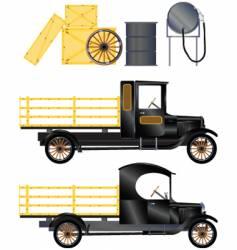 work truck vector image vector image