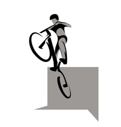 Bicycle extreme sport vector image