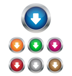 Down arrow buttons vector image