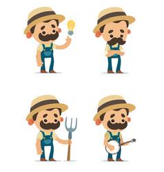 farmers vector image vector image