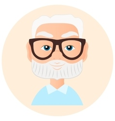 Grandfather Faces Avatar in circle vector image
