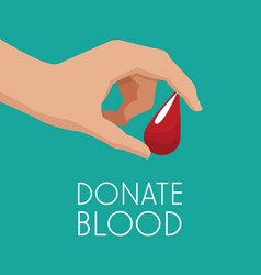 hand drop donate blood vector image