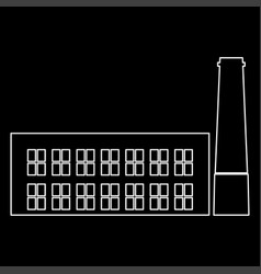 industrial building factory the white path icon vector image