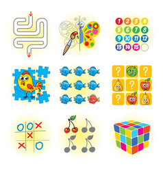 logic games for kids vector image