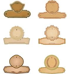 Premium Quality Labels with retro design vector image vector image