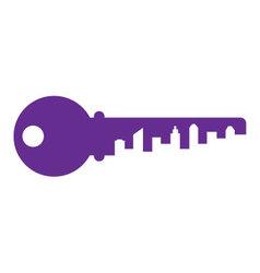 city-key vector image vector image