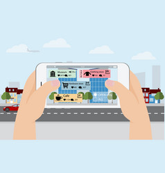 Augmented reality in marketing vector