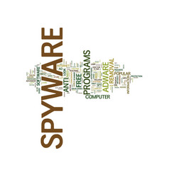 best free spyware remover text background word vector image