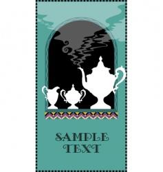 beverage menu vector image