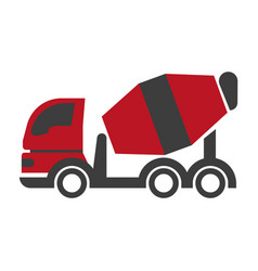 bulk cement transport unit icon flat art design on vector image