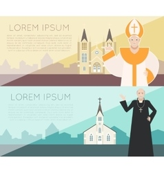 Catholic Church Banner vector image vector image