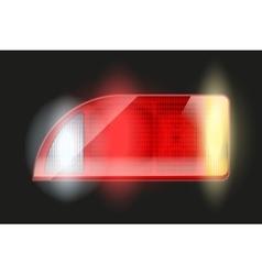 Rectangular car taillight vector