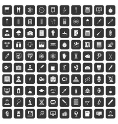 100 lab icons set black vector