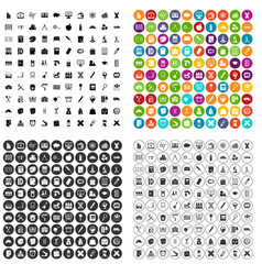 100 pensil icons set variant vector