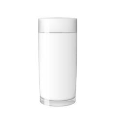 abstract milk glass on white background vector image