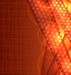 Abstract orange template vector image vector image