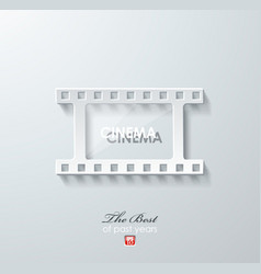 Abstract white paper film icon vector