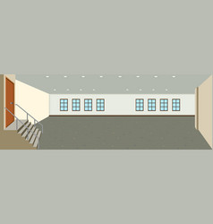 an empty room background vector image