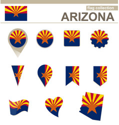 Arizona flag collection vector
