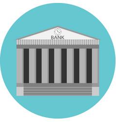 Bank icon flat design vector image