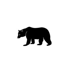 bear symbol - black on white vector image