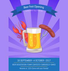 Beer fest opening poster vector