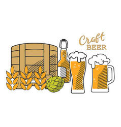beer set comp1 vector image