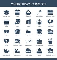 birthday icons vector image