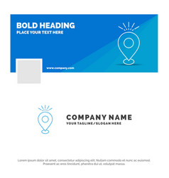 Blue business logo template for location pin vector