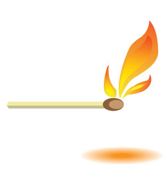 Burning match vector